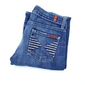 7 FAMK Colette Detailed Pocket Bootcut Jeans